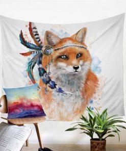 Wandbehang Fuchs Native American