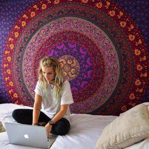 Wandbehang Majestätisches indisches Mandala