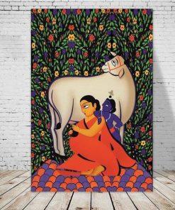 Wandbehang Krishna