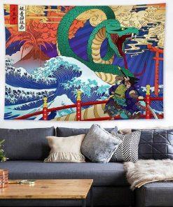 Große Welle Wandbehang